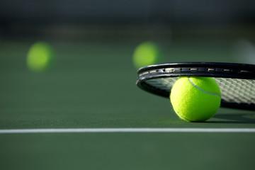 Fototapeta Tennis Ball and Racket