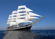 canvas print picture - Sailing ship