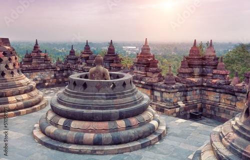 Photo sur Toile Indonésie Borobudur Temple