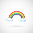 rainbow and clouds in the sky