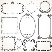 Ornamental Frames. Design Elements