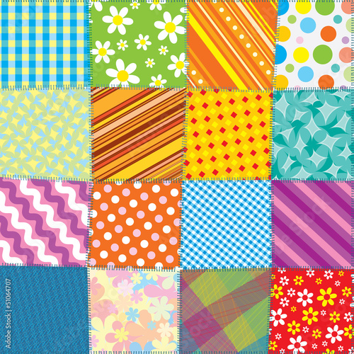 Seamless Quilt Pattern Fototapete