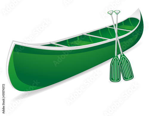 Photo canoe vector illustration
