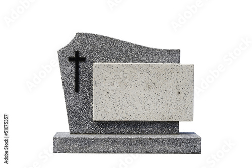 Fotografia single grave stone cut out (Clipping path)
