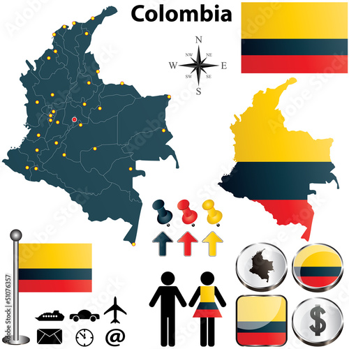 Fotografía  Colombia map