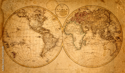 Garden Poster World Map old map 1799