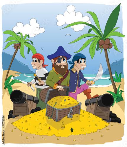Photo sur Toile Pirates pirate 2 -colored