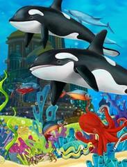 Obraz na płótnie Canvas The underwater castle - princess series