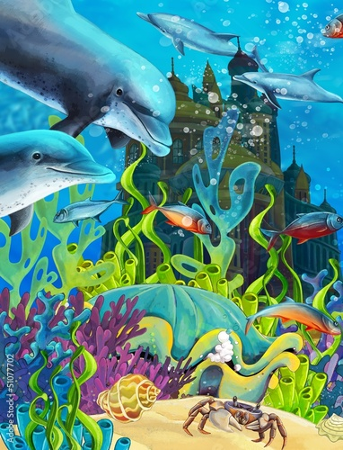 Recess Fitting Submarine The underwater castle - princess series