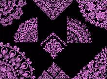 Pink Quadrant Decorations On B...