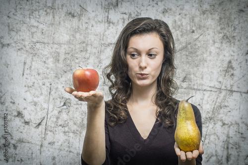 Fotografie, Obraz  Von den Äpfel und den Birnen