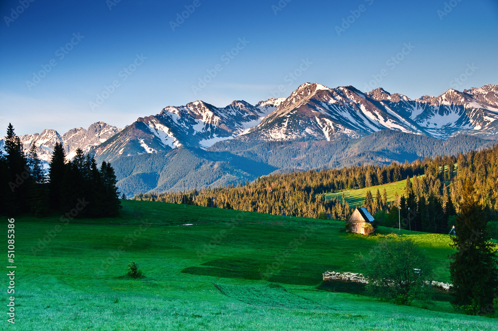 Fototapety, obrazy: Polish Tatra mountains panoram in the morning