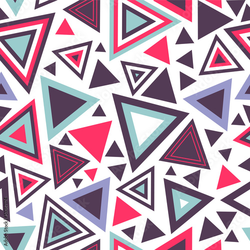 Deurstickers ZigZag Colorful abstract seamless pattern with triangles