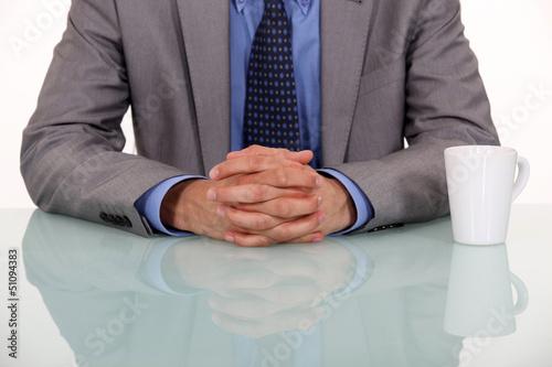 Valokuva  businessman crossing hands