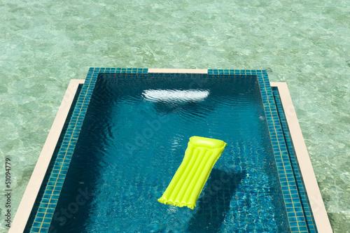 Fotografie, Obraz  Airbed in the pool
