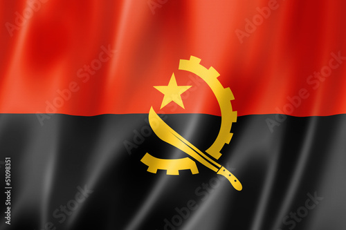Angolan flag Wallpaper Mural