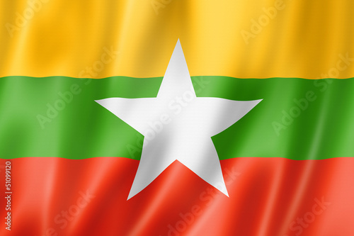 Burma Myanmar flag Wallpaper Mural