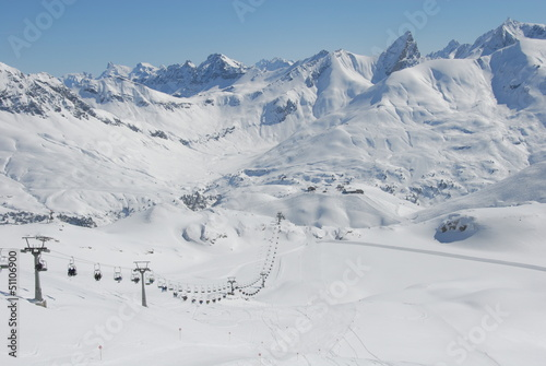 Winterlandschaft am Arlberg Wallpaper Mural