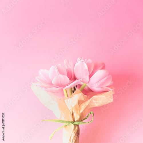 Garden Poster Floral ピンクの花束