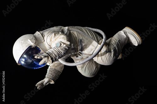 Tuinposter Nasa astronaut on black background