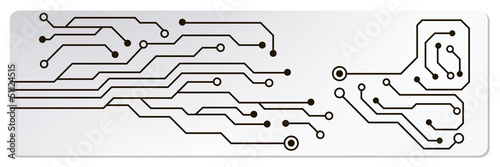 Fotografiet  web circuit board techno banner. eps10 vector illustration