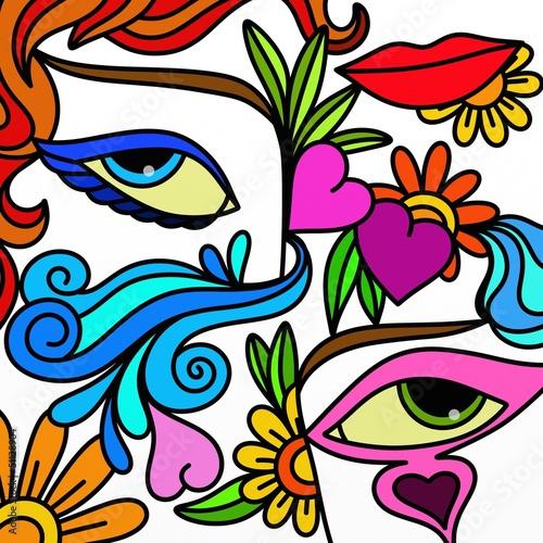 Foto op Canvas Klassieke abstractie due occhi