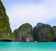 Tropical island in the open sea