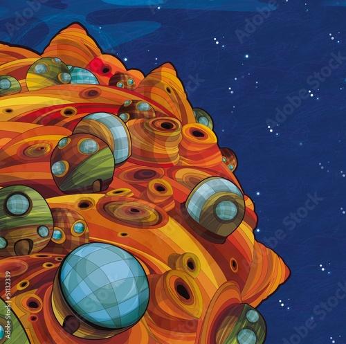 Cadres-photo bureau Cosmos The aliens theme - ufo - for kids