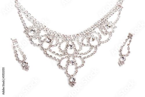 Foto  Nahaufnahme der Diamant-Halskette
