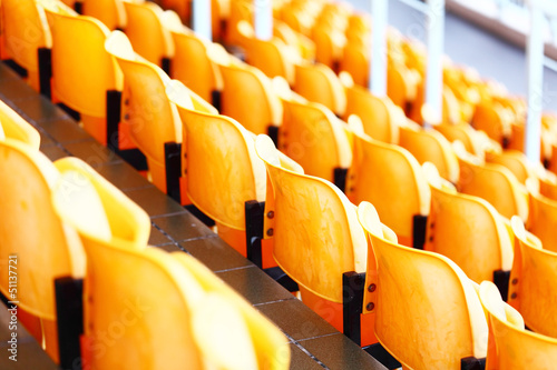 Foto op Plexiglas Stadion stadium seat