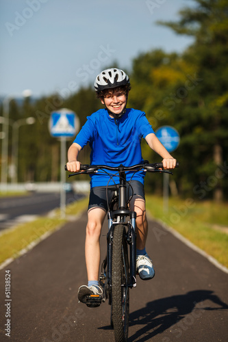 Poster Cycling Boy biking