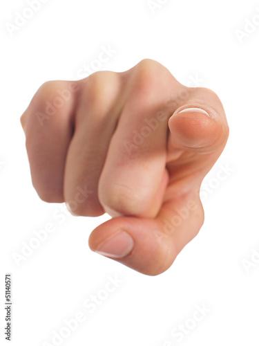 Foto  Menschliche Hand zeigt