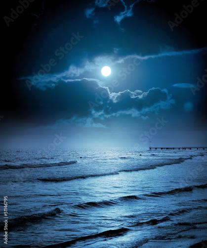 In de dag Volle maan Moonlight