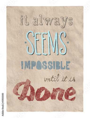 Papiers peints Affiche vintage Everything is possible poster