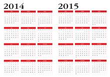 Calendar 2014 And 2015
