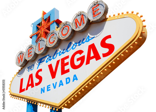 Foto op Aluminium Las Vegas Las Vegas sign isolated