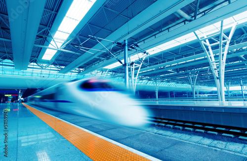 Fototapeta Fast trains obraz na płótnie