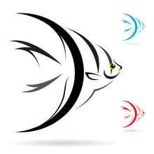Vector Image Of An Angel Fish ...
