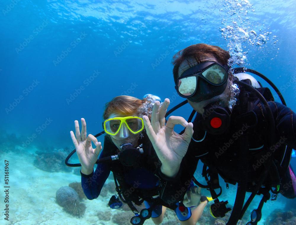 Fototapeta Divers