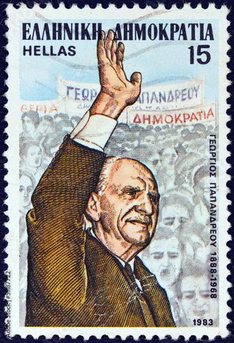 Fotografia  Politician Georgios Papandreou (Greece 1983)