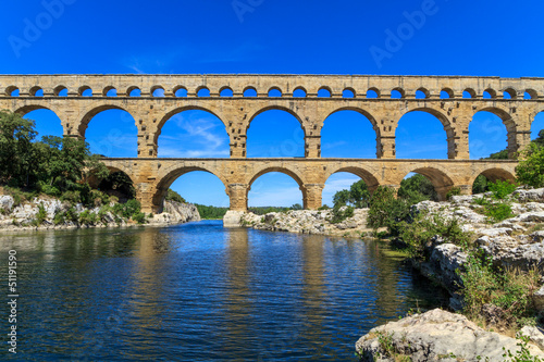 La pose en embrasure Ponts Pont du Gard, Nimes, Provence, France