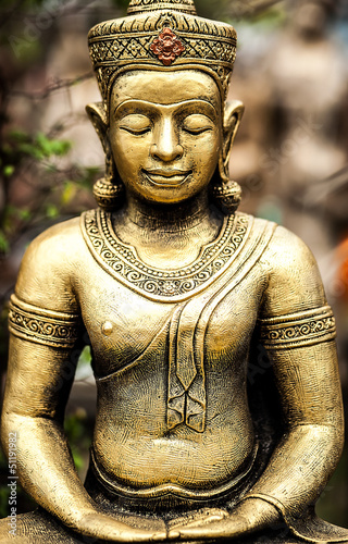 Ancient traditional stone figurine.