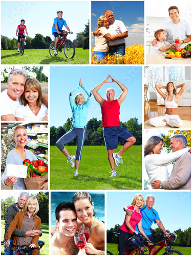 Fotografie, Obraz  Group of happy people collage.