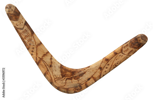 Photo Old used boomerang