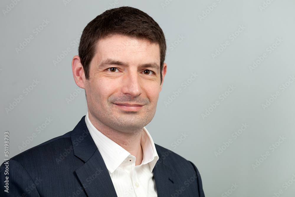 Fototapeta Smiling Business Casual Businessman