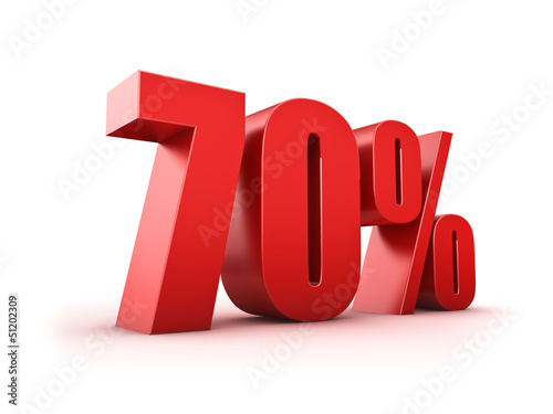 Fototapeta  70 Prozent