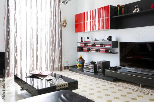 Keuken foto achterwand Muziekwinkel Living room