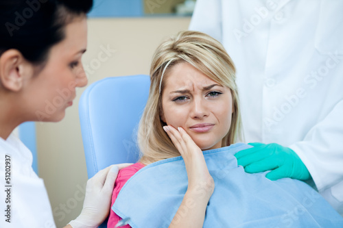 Fotografia  woman at the dentist