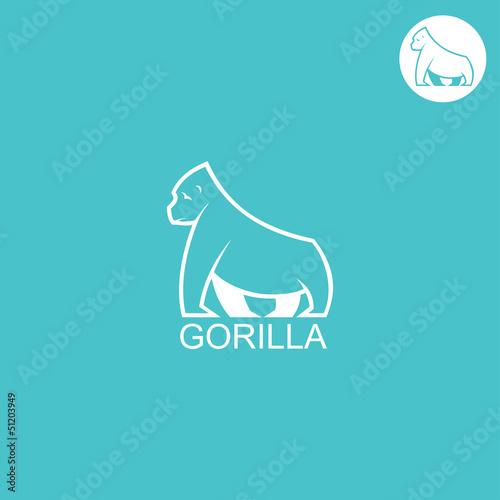 Gorilla label Poster