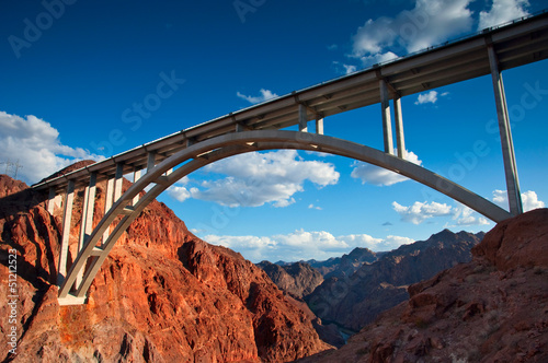 Fotobehang Brug Bridge near the Hoover Dam, Nevada.